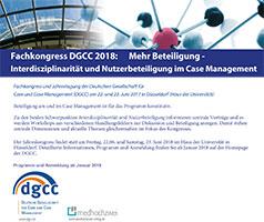 Fachkongress 2018 - Save the date