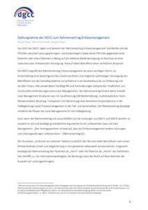 DGCC 2018 Stellungnahme zum Rahmenvertrag Entlassmanagement