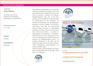 DGCC im Dialog 14.04.2021 - Leistungsansprüche
